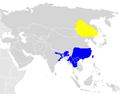 Aythya baeri map BirdLife.png