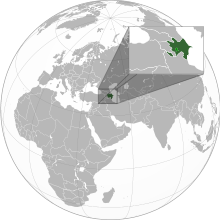Description de l'image  Azerbaijan with Nagorno Karabakh region.svg.