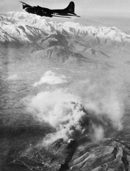 A B-17 Flying Fortress over Monte Cassino, 15 February 1944 B17overAbbey.jpg