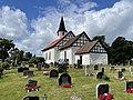 BORRE KIRKE medieval church Kirkebakken HORTEN Norway Kirkegård gravlund cemetery church yard Gravstøtter gravminner gravsteiner headstones tombstones Sommer etc 2021-07-08 IMG 8073.jpg