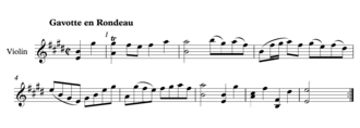 Major seventh - Bach Gavotte from Partita 3 for Violin.