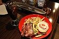Bacon cheeseburger at Upper Café Diner New York, New York in Hiroshima.jpg