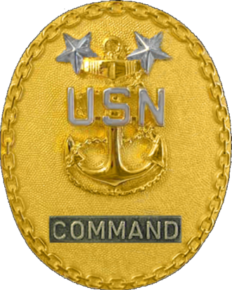 Navy Region Hawaii - Image: Badge of a United States Navy command master chief petty officer