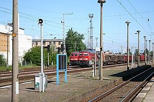 Neustrelitz–Warnemünde railway - Waren (Müritz) station