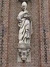 bakel rijksmonument 8592 st.willibrorduskerk gevelbeeld rechts,st. willibrordus