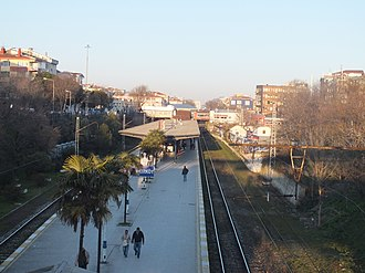 Bakırköy railway station - Looking east from the western entrance.