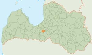 Baldone Municipality - Image: Baldones novads karte