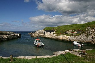 The Night Lands - The harbour of Ballintoy was redressed as the port of Pyke.