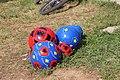 Balls made with national symbols, Prizren.jpg