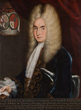 Baltasar de Zúñiga, 1st Duke of Arión - Baltasar de Zúñiga y Guzmán, 1st Duke of Arión, Viceroy of New Spain