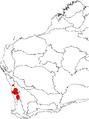 Banksia sphaerocarpa var. pumilio map.png