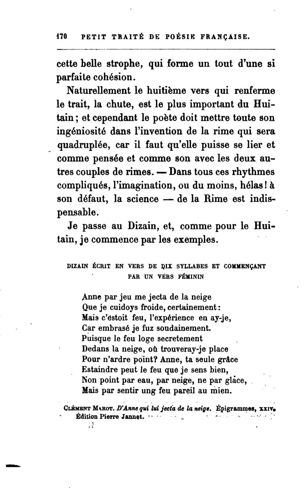 Pagebanville Petit Traite De Poesie Francaise