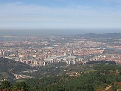 Panoramic view of Barakaldo, from Mount Sasibora