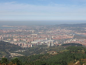 Barakaldo - Panoramic view of Barakaldo, from Mount Sasibora