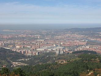 Barakaldo - Panoramic view of Barakaldo, from Mount Sasibora