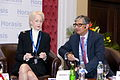 Barbara Judge, Chairman Emeritus, UK Atomic Energy Authority and Rajive Kaul, Chairman, Nicco Group, India, at the 2011 Horasis Global Arab Business Meeting - Flickr - Horasis.jpg
