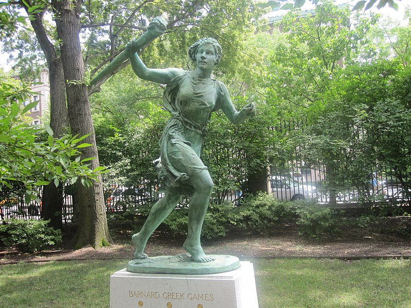 Barnard College Greek Games statue IMG 0972.JPG