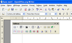Toolbar - OpenOffice.org allows its toolbars to be detached and moved between windows and other toolbars