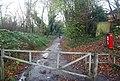 Barrier on the Len Valley Walk - geograph.org.uk - 1610538.jpg