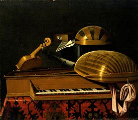 Still Life with Musical Instruments and Books