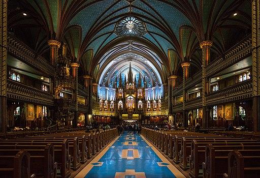 Basilique Notre-Dame, Montréal, Interior view 20170410 1