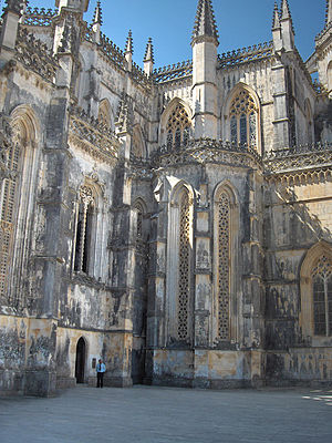 Batalha, Portugal - Details of Gothic architecture in the Monastery of Batalha