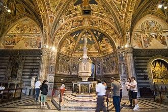 Siena Baptistery of San Giovanni - The baptismal font