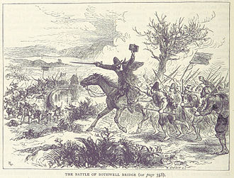 Battle of Bothwell Bridge - An illustration of the battle