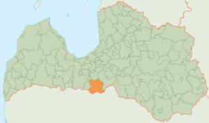 Bauska Municipality - Image: Bauskas novads karte
