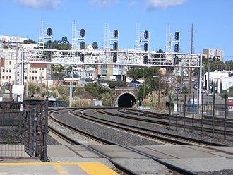 Caltrain Express - Image: Bayshore Station 3227 15