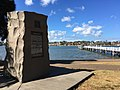 Memorial to Canadian exiles at Bayview Park wharf