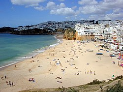 Byrn beach in the municipality of Albufeira