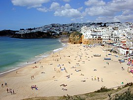 Praia dos Pescadores in the municipality of Albufeira
