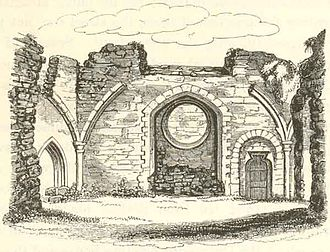 Beaumont Palace - 1800 sketch of the ruins