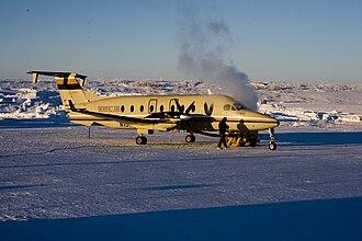 Bering Air - Bering Air Beech 1900D at Nome, Alaska.