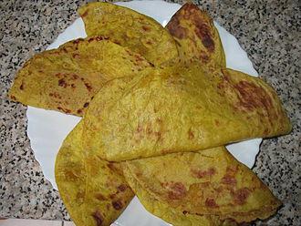 Puran poli - Puran poli (chana dal puran poli) or bele obbattu