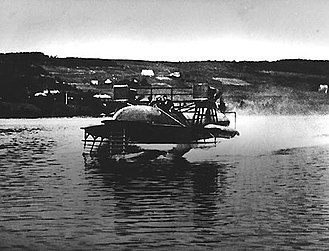 Hydrofoil - Alexander Graham Bell's HD-4 on a test run, c.1919