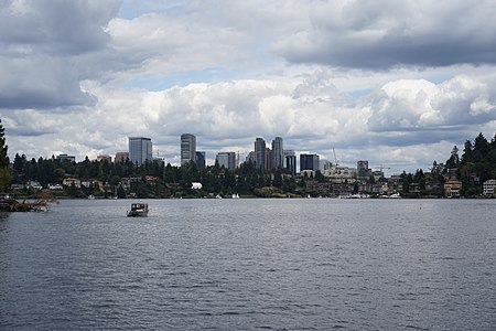 Bellevue skyline from Lake Washington.JPG