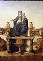 Benedetto diana, Madonna con Bambino in trono tra san Girolamo, san Francesco d'Assisi e i donatori, 1486, 03.JPG