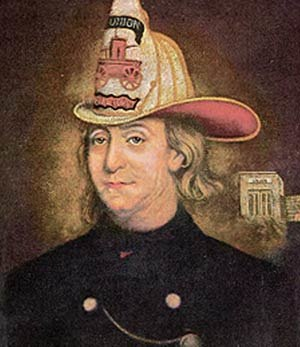 Union Fire Company - Image: Benjamin Franklin, The Fireman