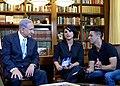 Benjamin Netanyahu with Rotem Abuhav and Shahar Hason D1192-103.jpg