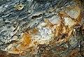 Bentonite (105.6 Ma) in the Dakota Sandstone (Lower Cretaceous) (Dinosaur Ridge, Colorado, USA) 1 (8278738272).jpg