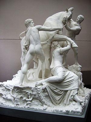 Farnese Bull - Plaster cast of the Farnese Bull in the Gipsformerei, Berlin-Charlottenburg, Germany