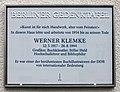 Berliner Gedenktafel Tassostr 21 (Weißs) Werner Klemke.jpg