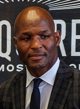 World boxing championship records and statistics - Image: Bernard Hopkins at the Golovkin Lemieux Press Conference (cropped)