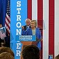 Bernie Sanders endorsing Hillary Clinton (27653737304).jpg