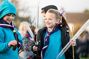 The Scout Association - Beaver Scouts taking part in a Better Prepared project in 2016.