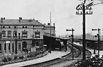 Herbesthal Railway Station - Herbesthal Railway Station (ca 1900)