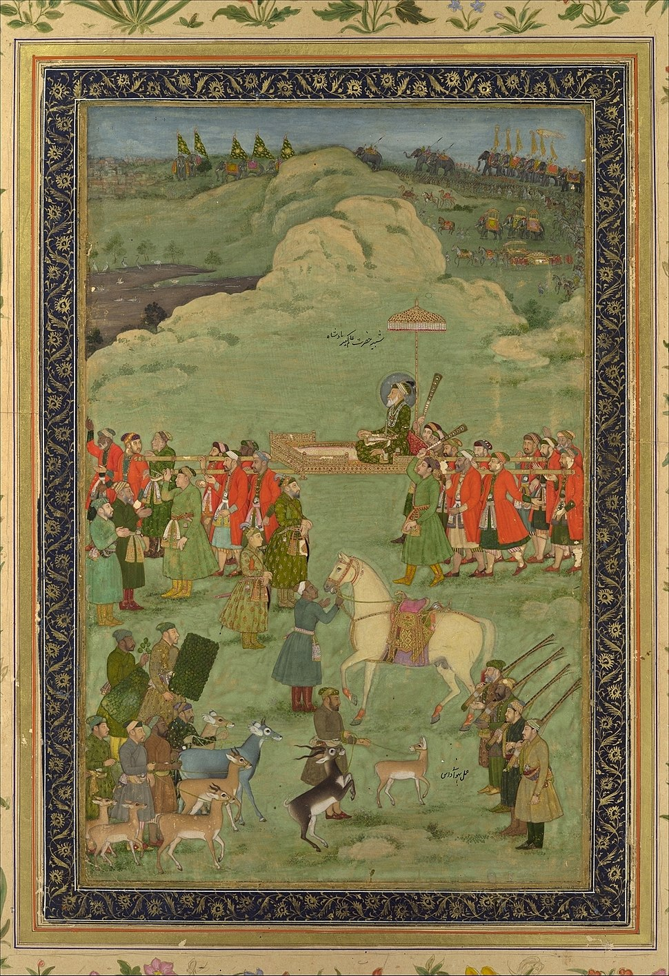 Bhavanidas. The Emperor Aurangzeb Carried on a Palanquin ca. 1705–20 Metripolitan Museum of Art.