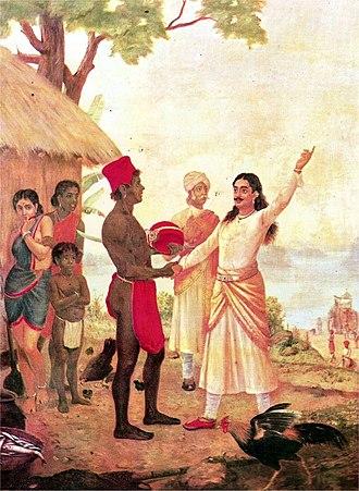 Adi Parva - Bhishma taking his bhishma pratigya is shown in Adi Parva